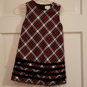 Children's Place Red Checkered Holiday Dress 3T